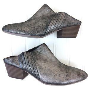BCBGENERATION metallic leather western Lori mules